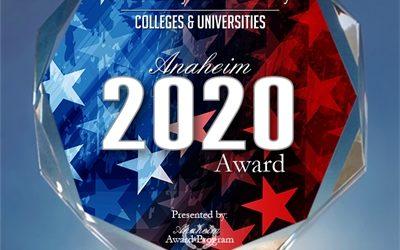 2020 Anaheim Award